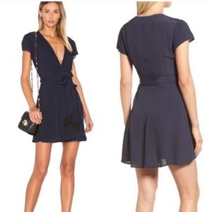 Tularosa Yvonne Mini Dress Navy Blue Sz M
